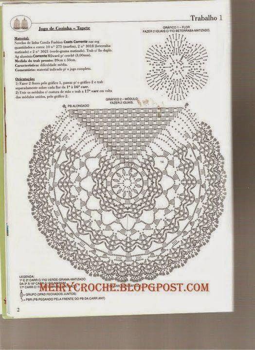 Crochê Meire: crochê caminho de mesa   trilhos de cloche   Pinterest ...