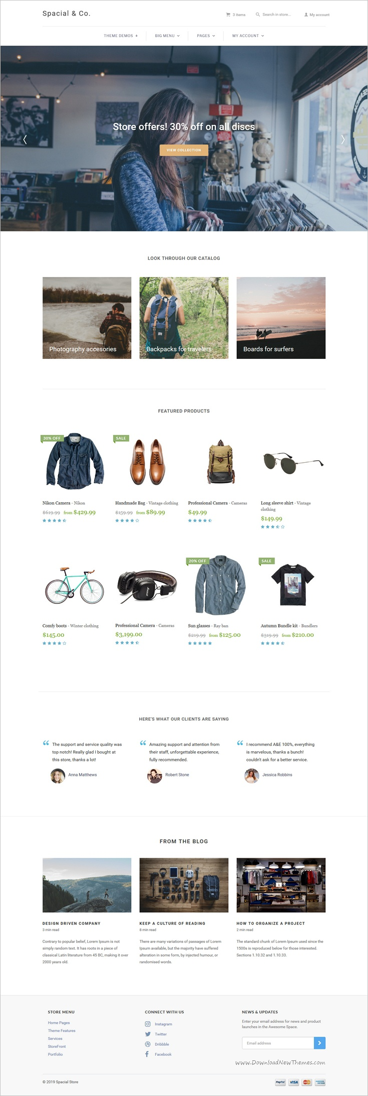 Spacial Responsive Bootstrap 4 Theme Fashion Web Design Ecommerce Web Design Web Design