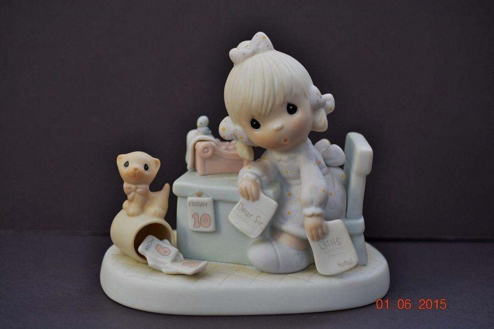 Precious Moments Figurine Praise The Lord Anyhow E 9254 Collectors Club Vessel Precioso
