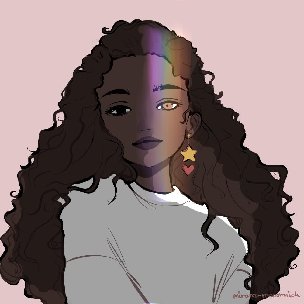 "miranzmccormick ""rainbow "" Black girl art, Female art"