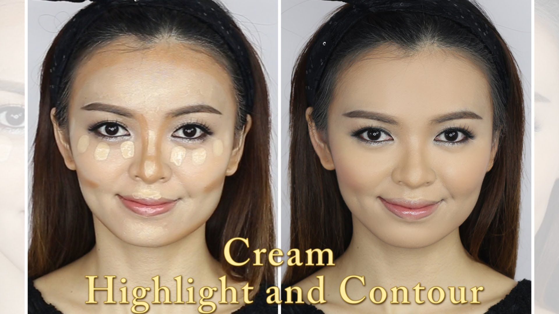 Cream highlight and contour tutorial today were going to learn cream highlight and contour tutorial today were going to learn about basic cream highlight and contour cream products work best to truly alter the shape baditri Gallery
