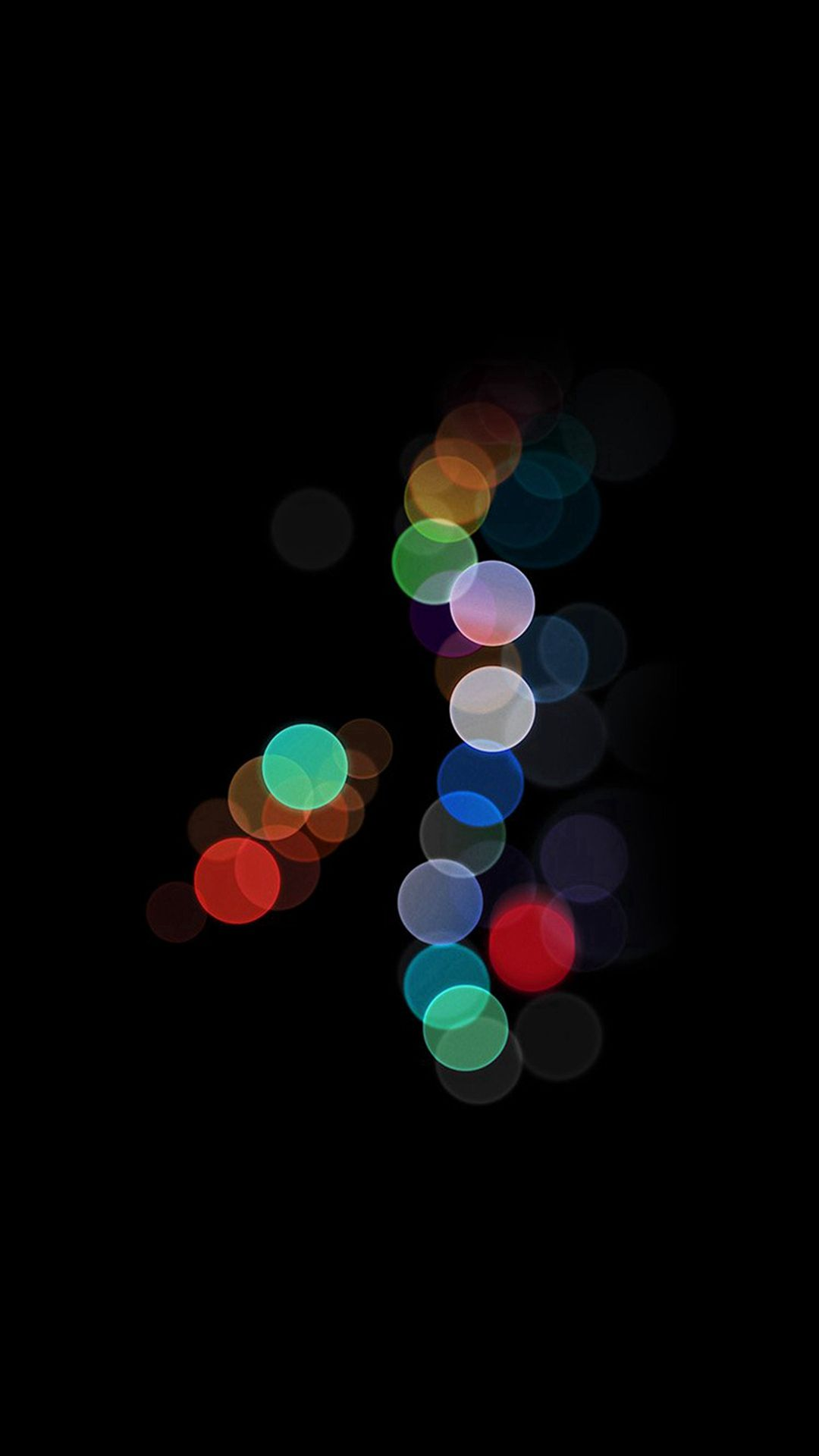 Apple Bokeh Dark Rainbow Art Illustration IPhone 8 Wallpaper