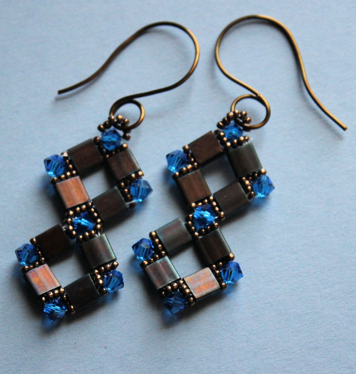 .love these tila bead earrings