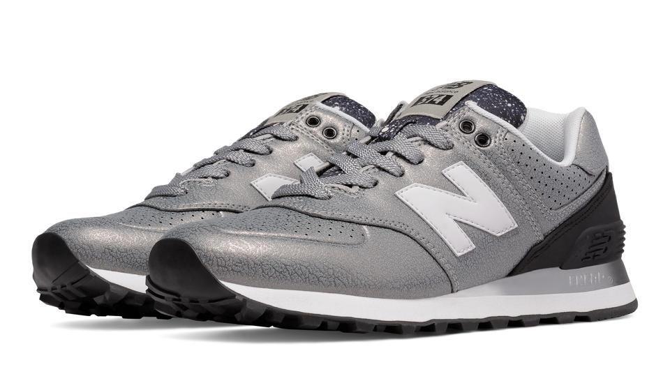 new balance 574 argento