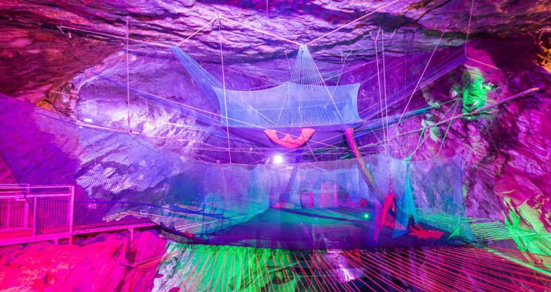 Somewhere In Wales Theres An Underground Trampoline Park - Gigantic underground trampoline inside cave looks amazing