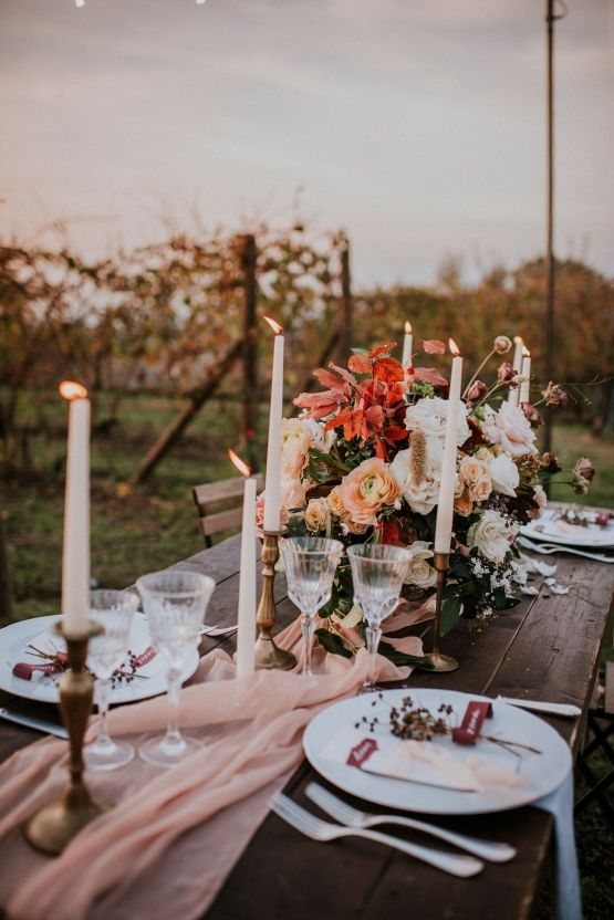 Autumn might be the prettiest time for an Italian winery wedding