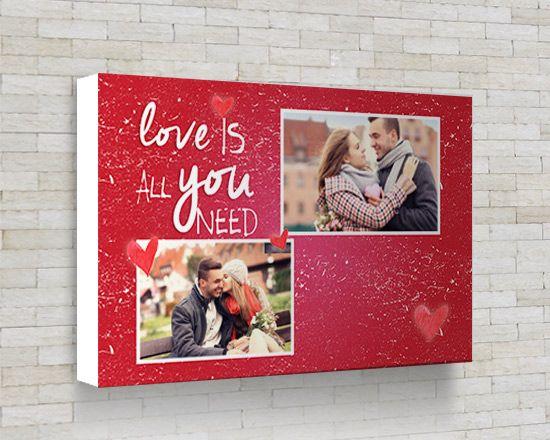 Foto Collage Love is All - Fotoregali.com