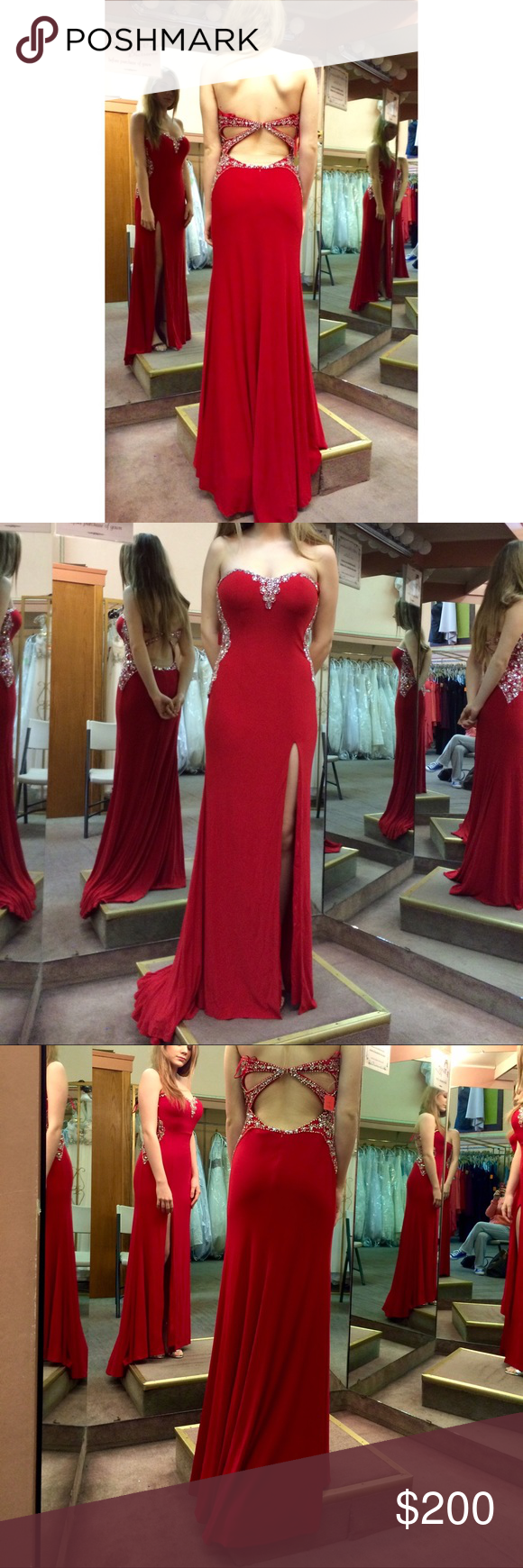 Red u silver prom dress pinterest dress prom thighs and neckline