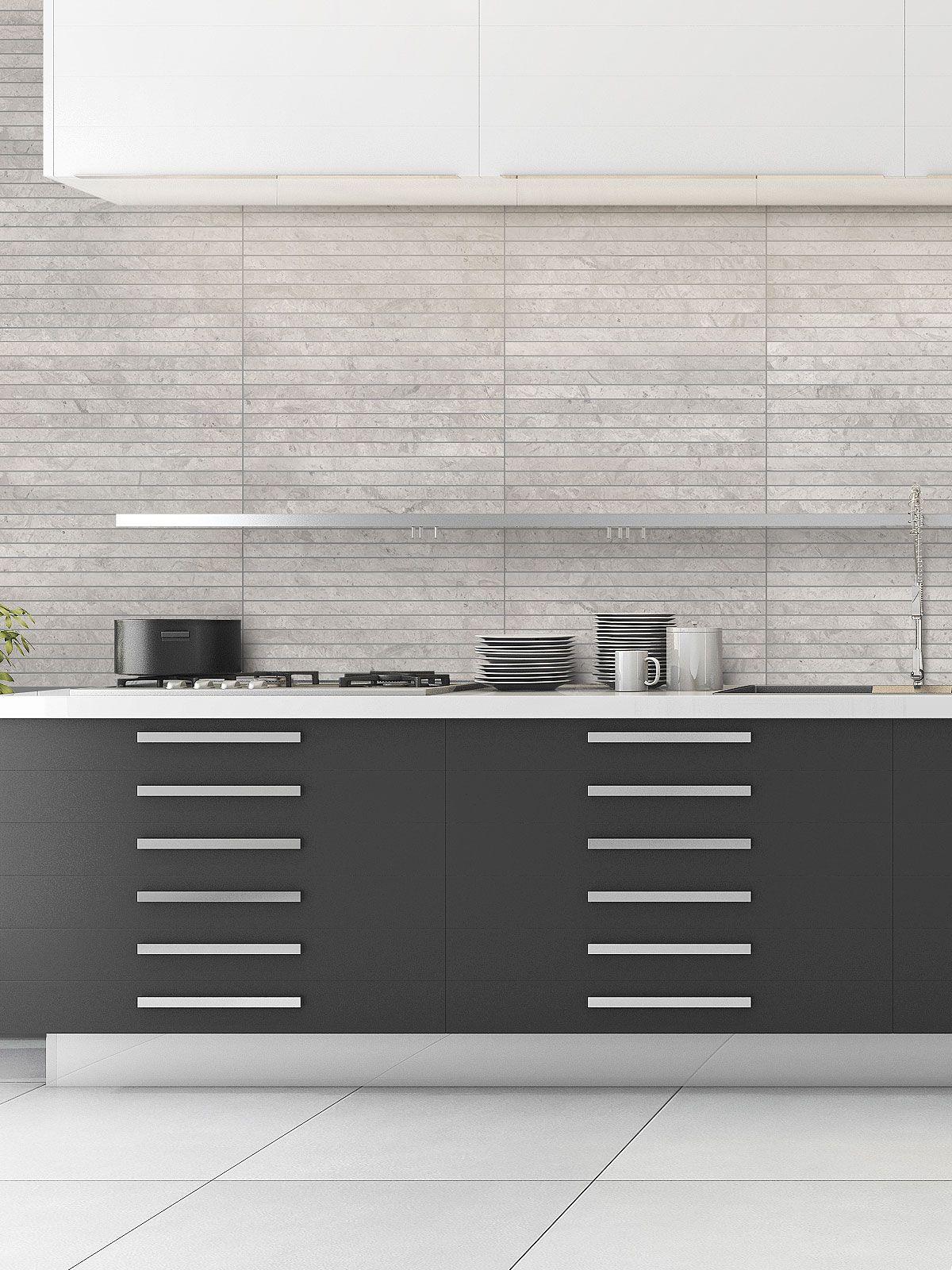 Modern Light Gray Subway Backsplash Tile Contemporary Design In 2020 Contemporary Kitchen Backsplash Contemporary Style Kitchen Modern Kitchen Backsplash