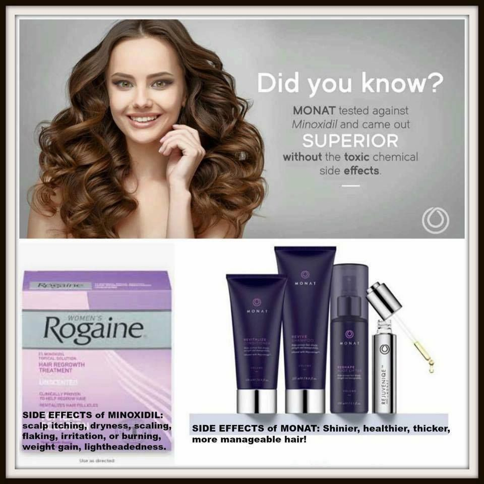 Better than Rogaine Thinning hair gets even more growth with Monat