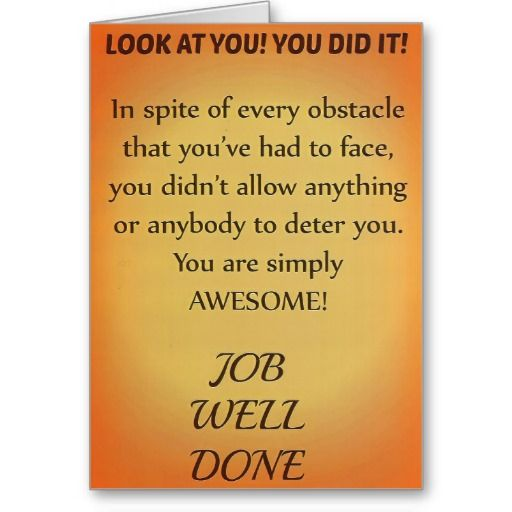 Job Well Done Greeting Cards You did itCongrats - job well done