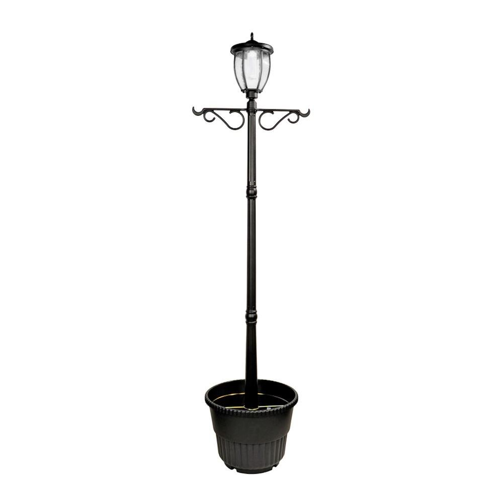 Nature Power Solar Powered Outdoor Led Black Lamp Post With