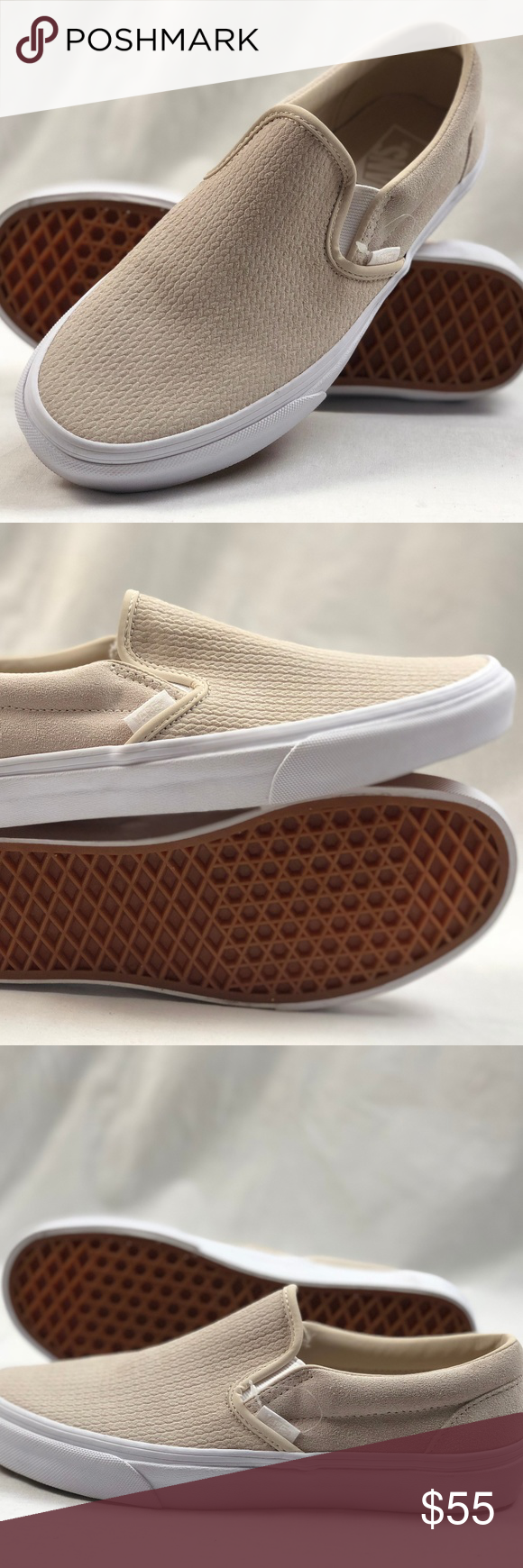 bb71fceca8 Vans Classic-On Moonbeam Suede Emboss Slip-on Shoe Vans Classic-On Moonbeam  Suede Emboss Slip-on Shoes. Condition  New without box.