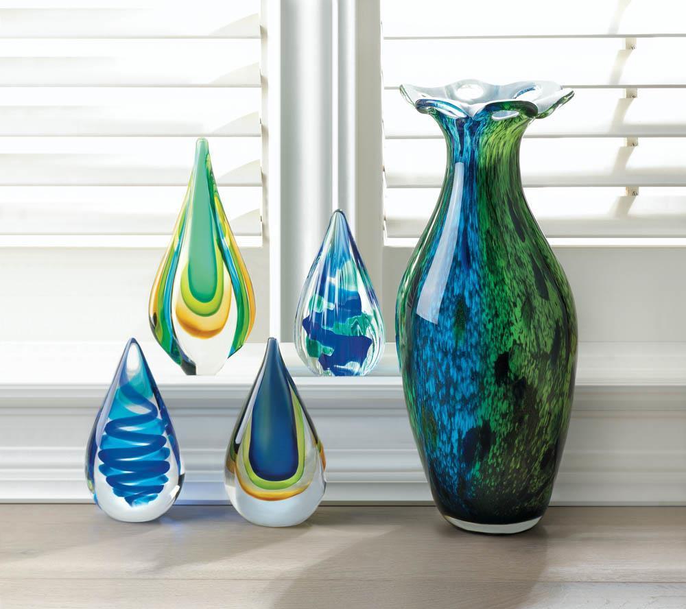 Art Glass Water Drop Statue | Glass art pictures, Glass art ...