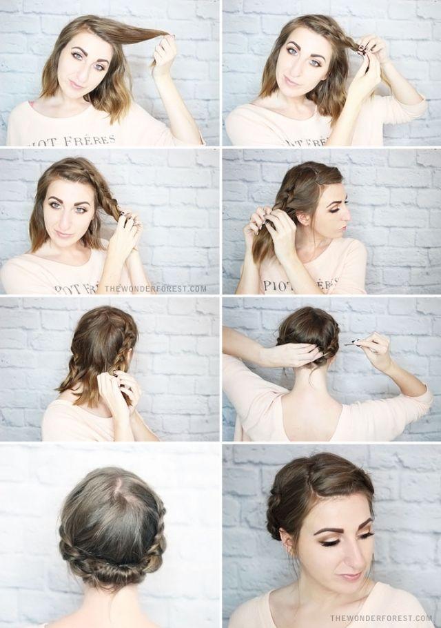 Hairstyles For Short Hair Braided Updo Jpg 640 910 Braided Updo For Short Hair Short Hair Updo Braided Hairstyles Updo