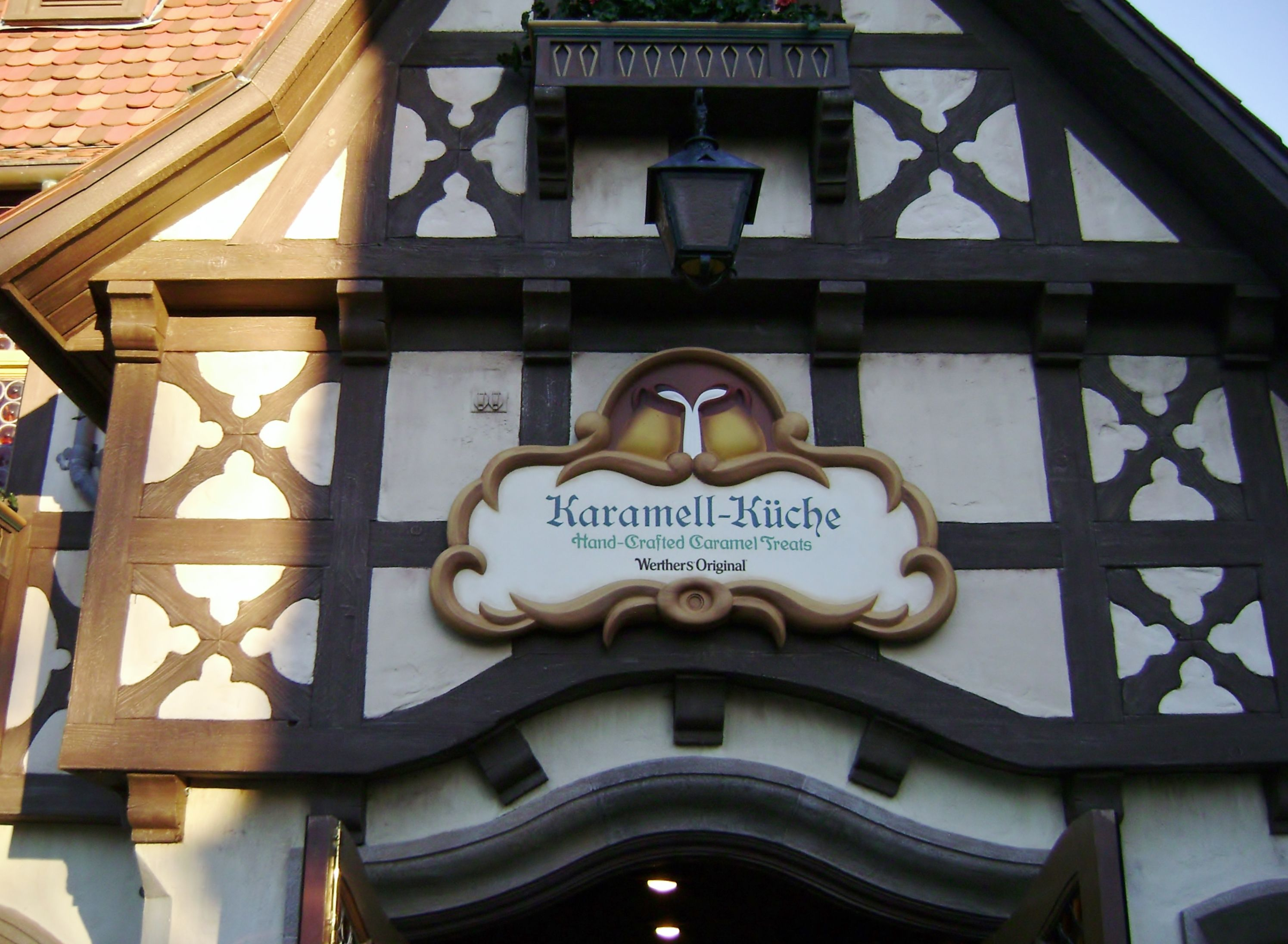 EPCOT\'s Germany Pavilion in the World Showcase. Werther\'s Original ...