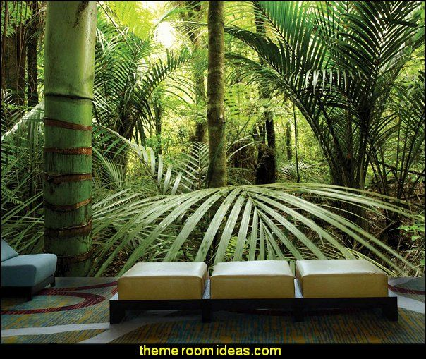 Rainforest Full Wall Size Mural Interior Decor Cool