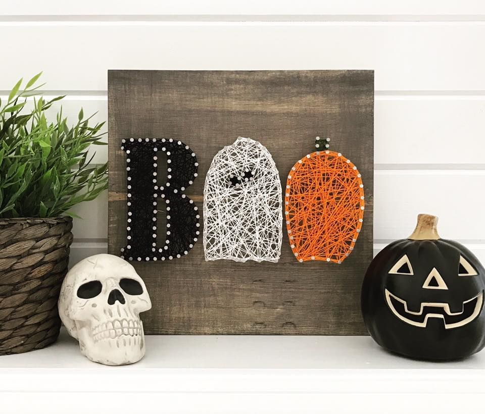 Halloween Ideas Arts And Crafts: Fall String Art Ideas And Tutorial