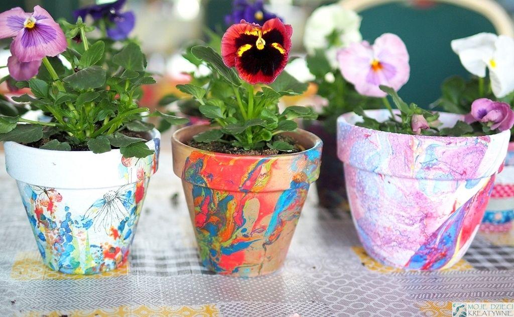 Marmurkowe Doniczki Diy Moje Dzieci Kreatywnie Crafts Arts And Crafts Orchids