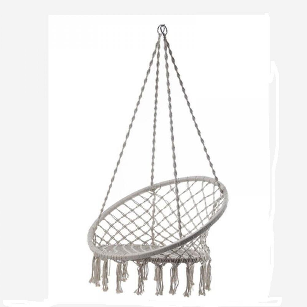 Nordic style handmade knitted round hammock outdoor indoor dormitory