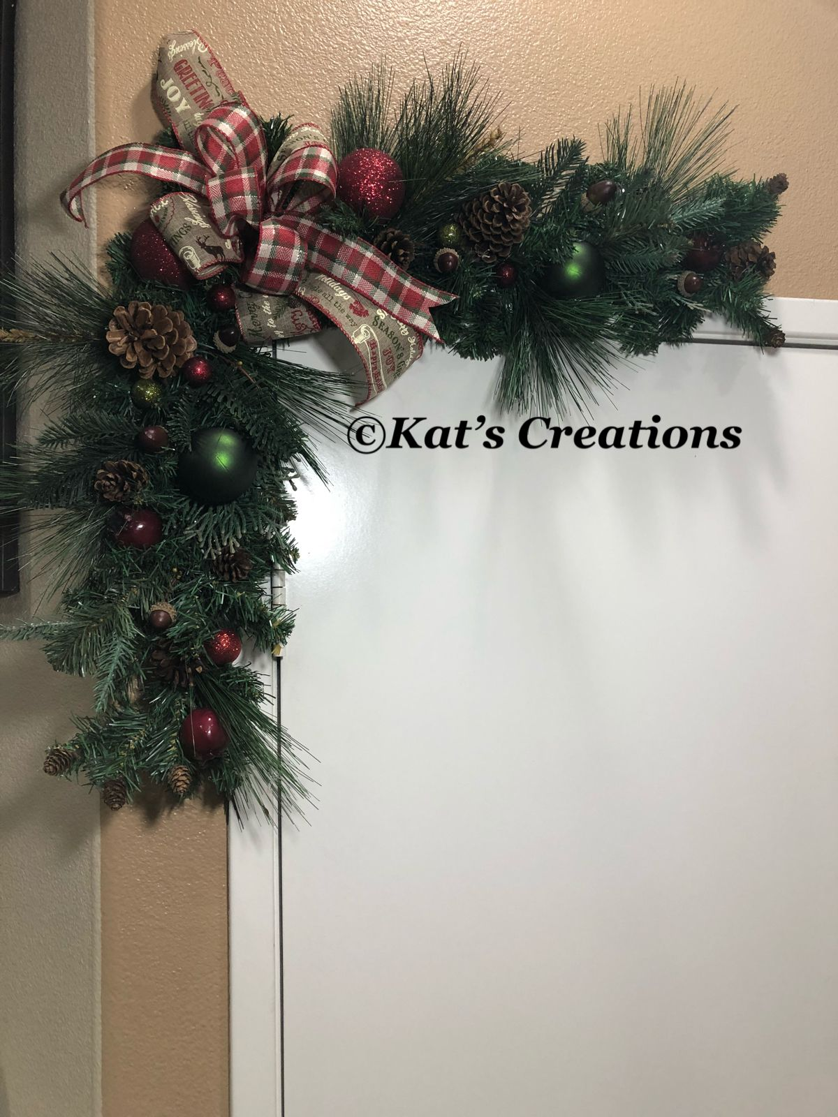 Christmas Garland Rustic Corner Swag Country Primitive Christmas Garland Christmas Swags Christmas Decorations