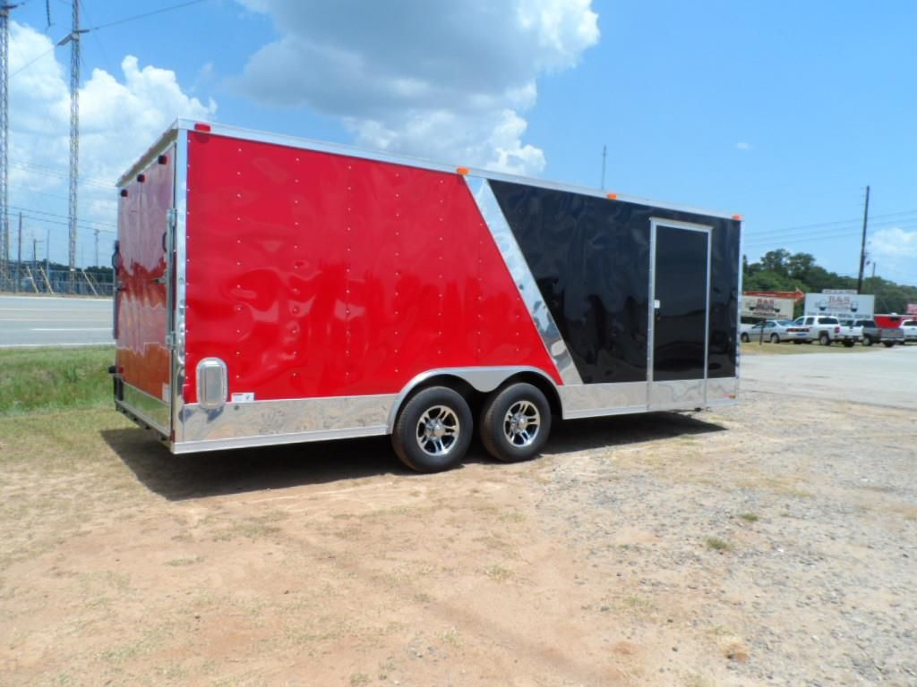 cynergy enclosed car hauler trailer 8x 20 with finished