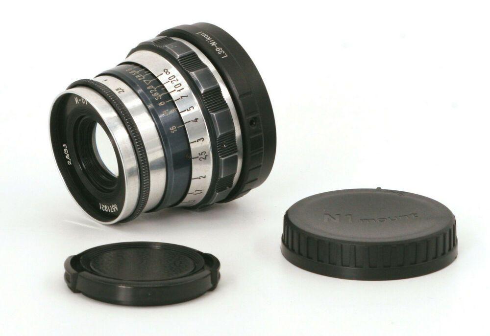 Serviced Industar-61 53mm F2.8 Lens For Nikon 1 Mount! Good Condition! #Industar