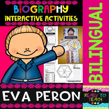 ENGLISH VERSIONYou will find a set of 4 different tasks to work on the biographies of Eva Peron. There are 4 interactive activities to be done:Interactive Task 1: Students have to search facts about the biography of this famous person and write those facts related to his/her early and family life ,...