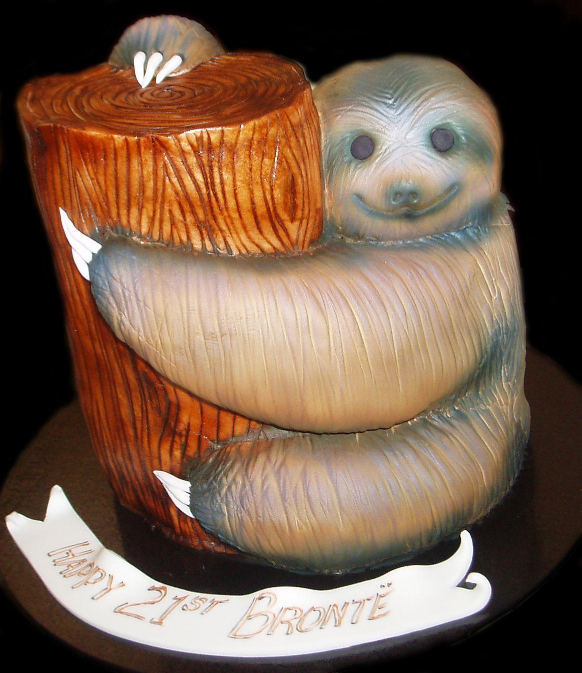 sloth birthday cake decorations