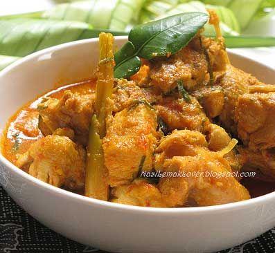 Resep Rendang Ayam Sehat Tanpa Santan Nasi Lemak Makanan Indonesia Makanan