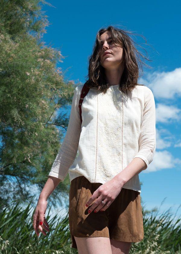 Sézane / Morgane Sézalory - CAMARGUAISE - Pasadena Blouse - #sezane www.sezane.com/fr #frenchbrand #frenchstyle #summercollection