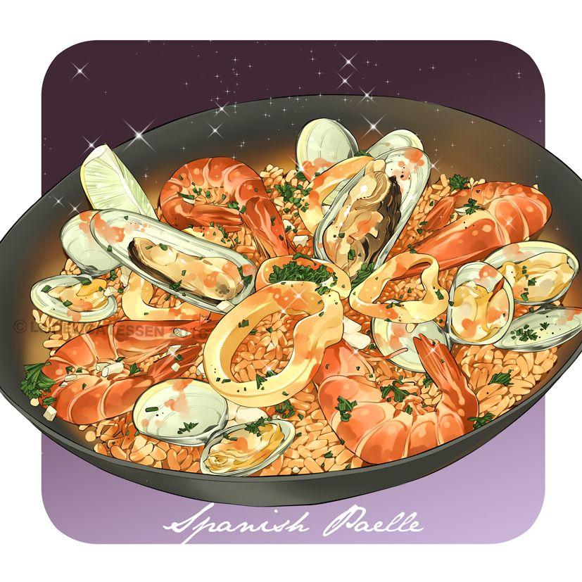 Dessin Paella spanish paella ~ le delicatessen | yummy snacks/drinks | nourriture