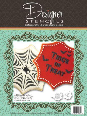 Spider Web Trick or Treat Halloween Cookie Stencils (no ...