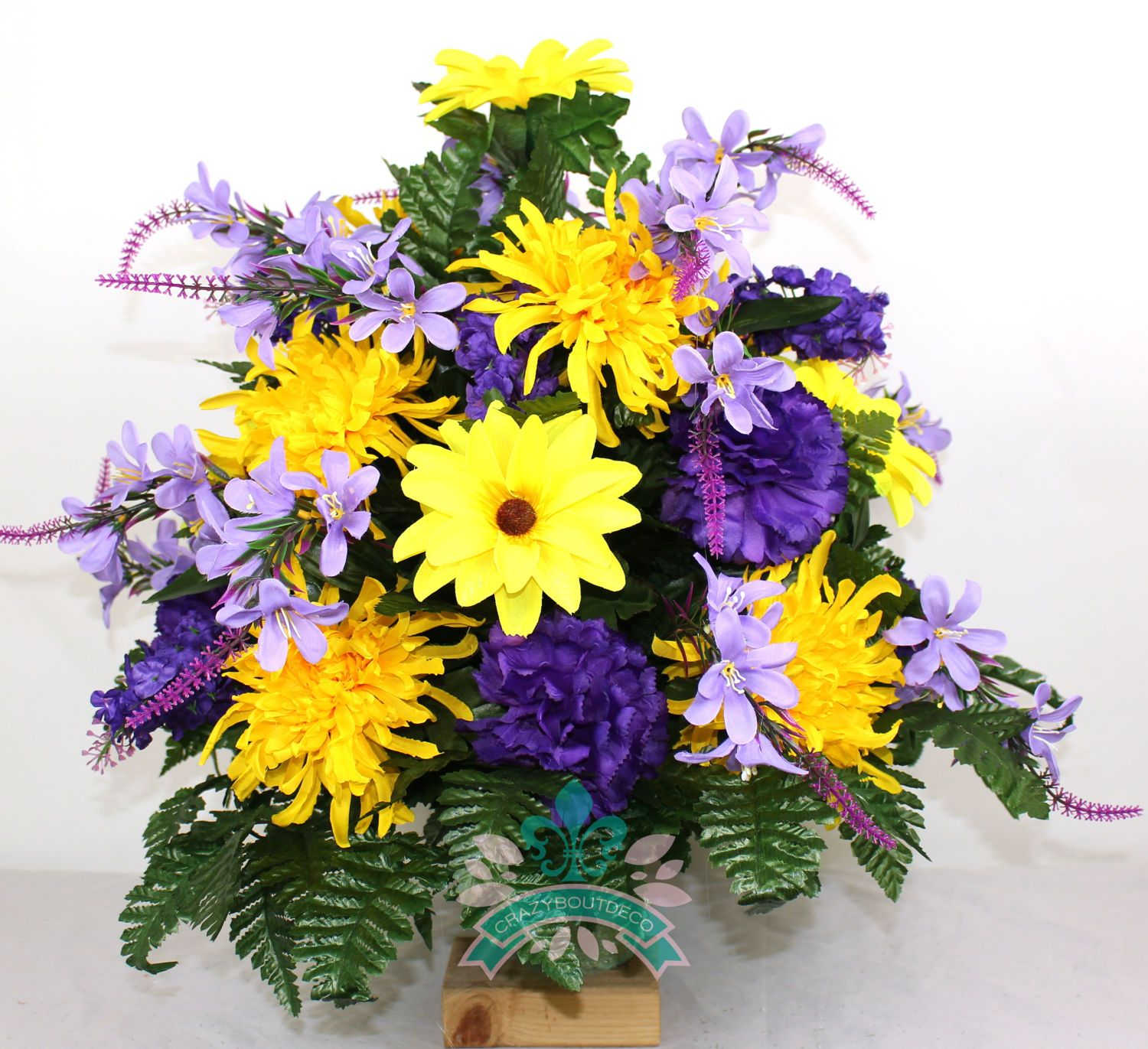 Beautiful Spring Mixture Cemetery Flower Arrangement For A 3 Inch