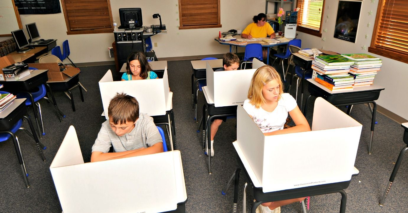 Study Carrels Really Work Classroom Privacy Shields Study