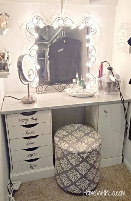 Sensational Diy Makeup Vanity Stool Mirror 61 Ideas Diy Makeup Andrewgaddart Wooden Chair Designs For Living Room Andrewgaddartcom