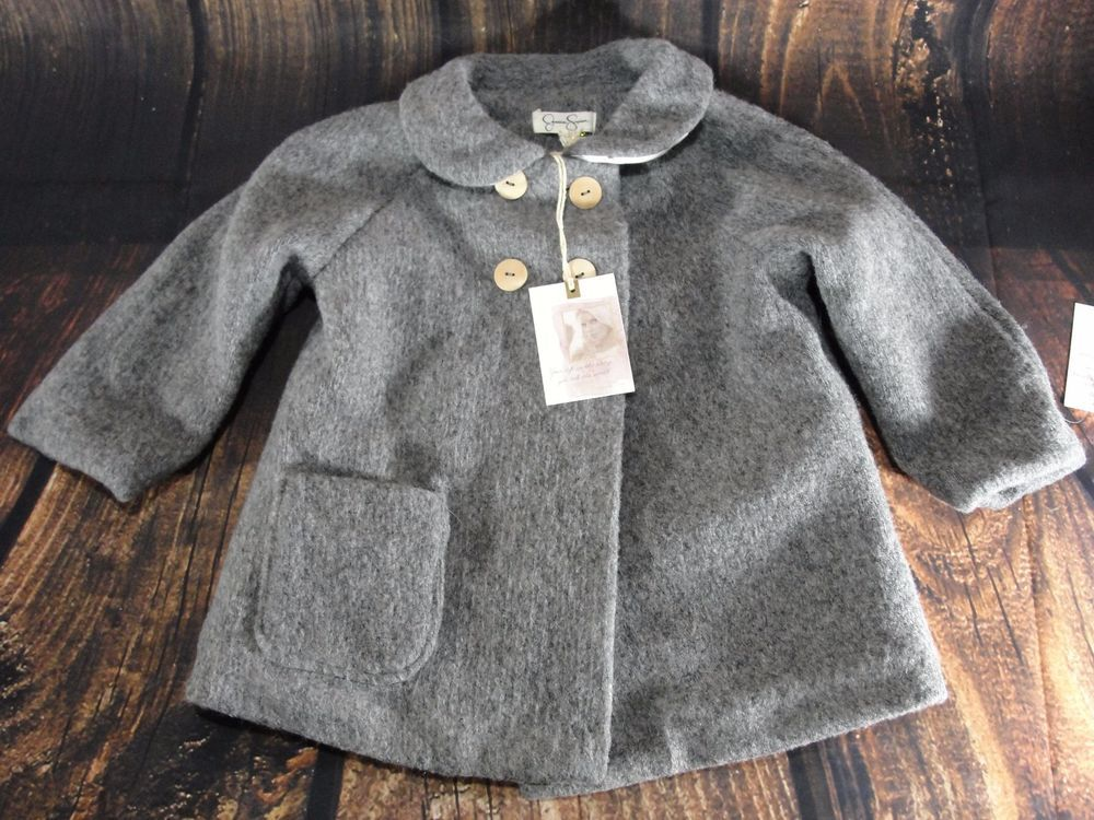 04a8f393e04d Jessica Simpson Baby Girl Toddler Peacoat Gray 24M