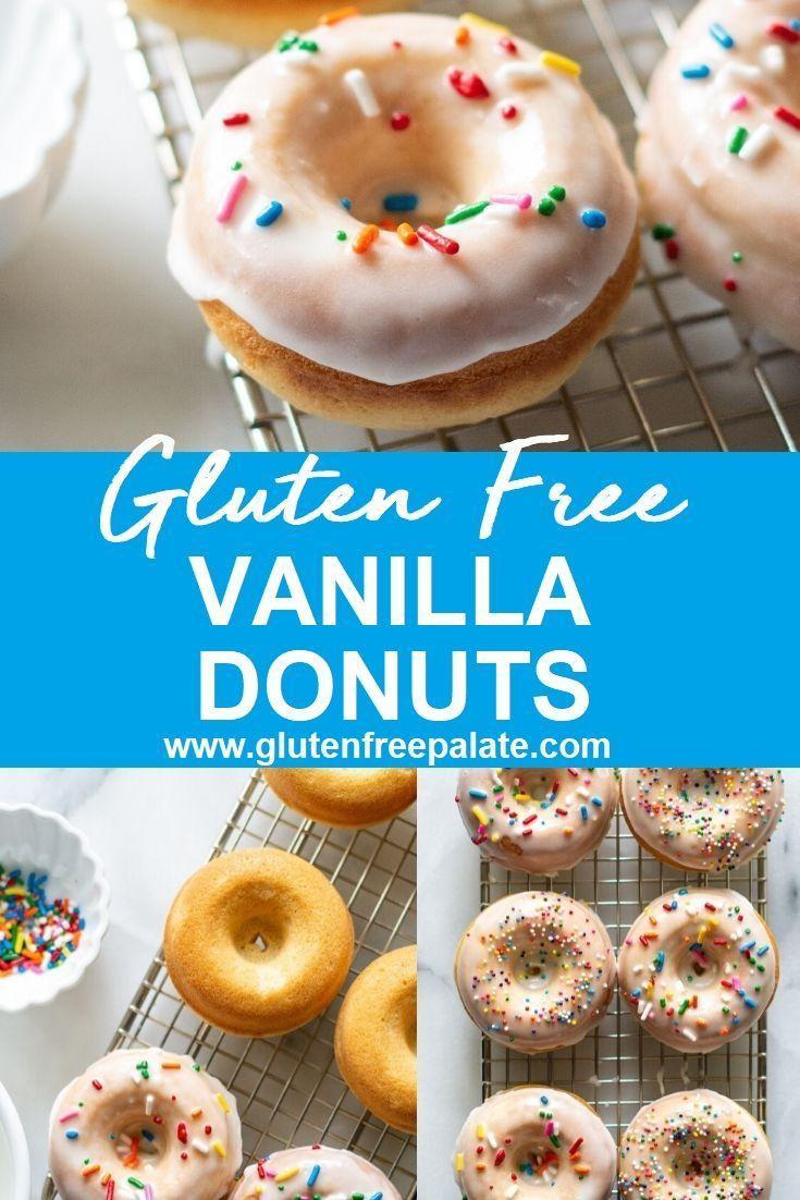 Glutenfree vanilla birthday cake donuts gluten free