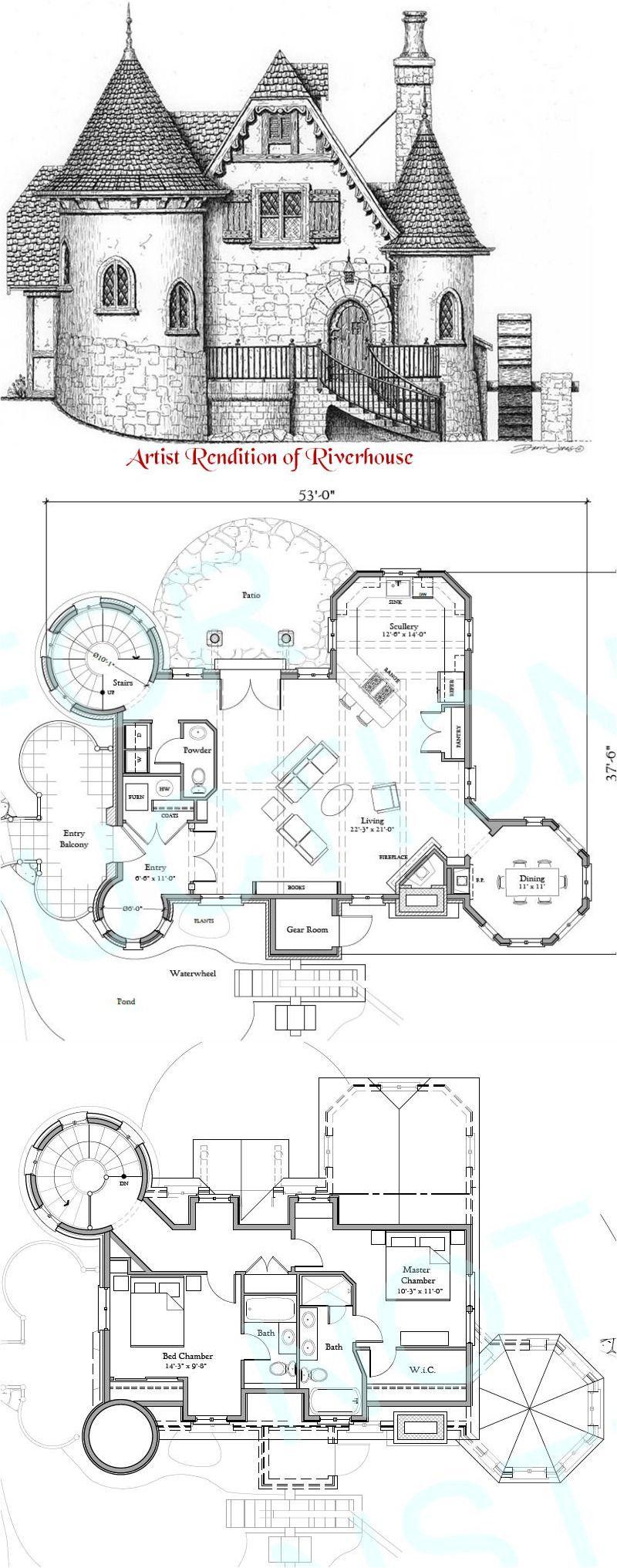Riverhouse Storybook Castle House Plans Storybook House Plan Storybook Homes
