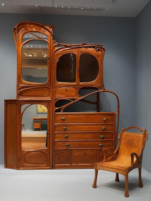 art nouveau cabinet from Hector Guimard's office at Castel Béranger, Paris,  ca. (remodeled after Virginia Museum of Fine Arts, Richmond, VA - Art Nouveau Furniture Google, Art Deco And Searching