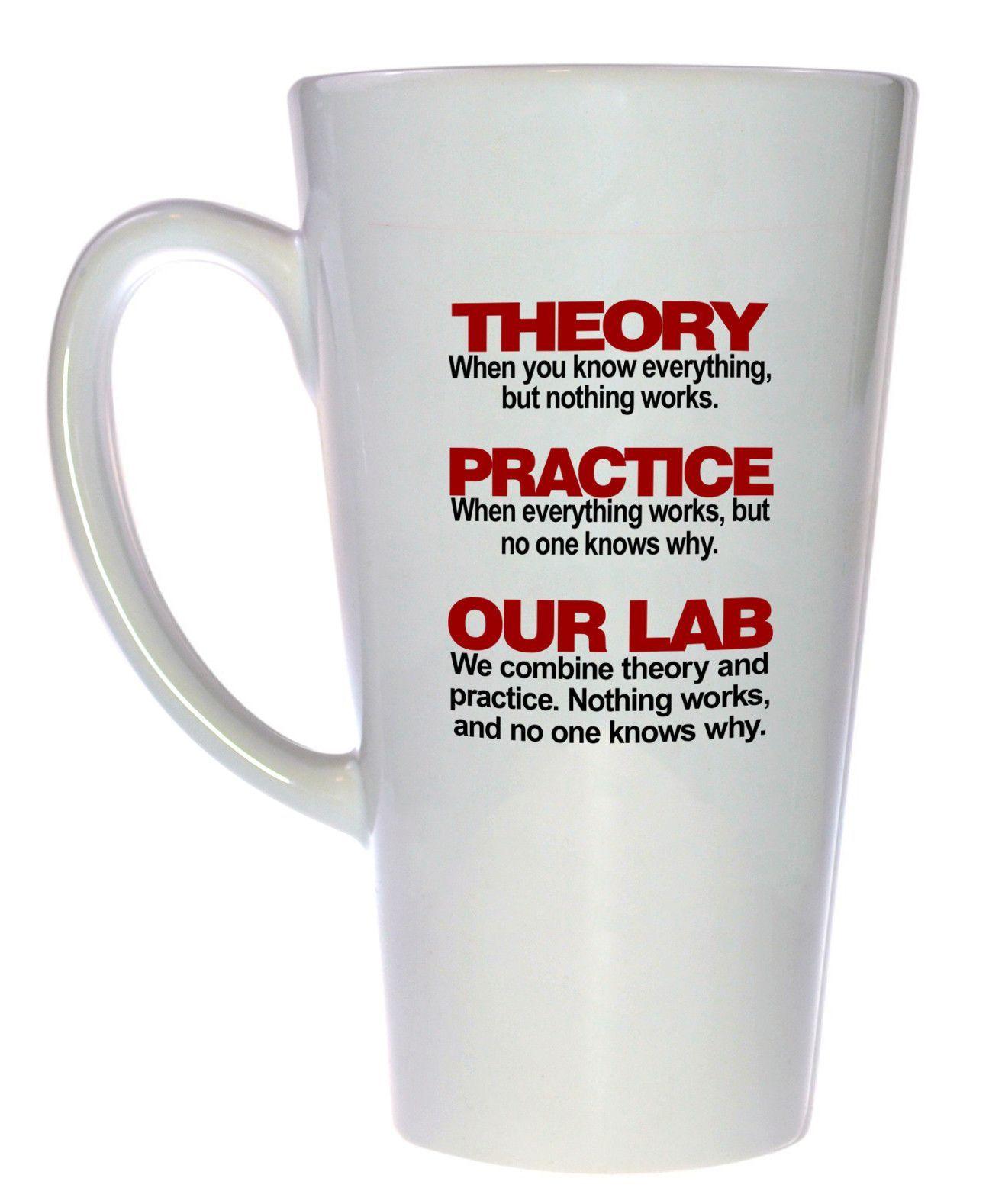 Theory and Practice Coffee or Tea Mug 17oz Tall Latte