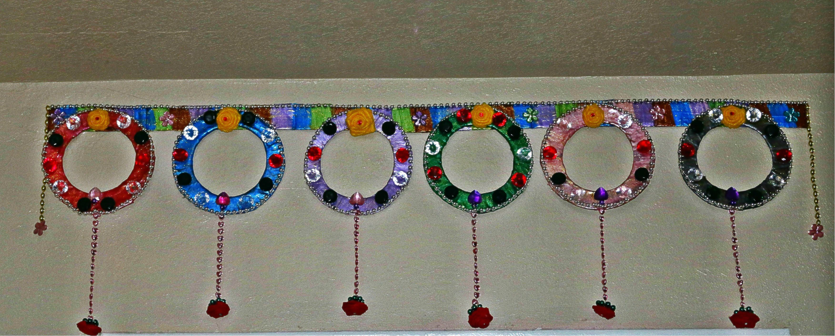 Merveilleux Recycled: Toran Door Hanging With Waste Cardboard   DIY Home Decor Hanging  Beads, Diwali
