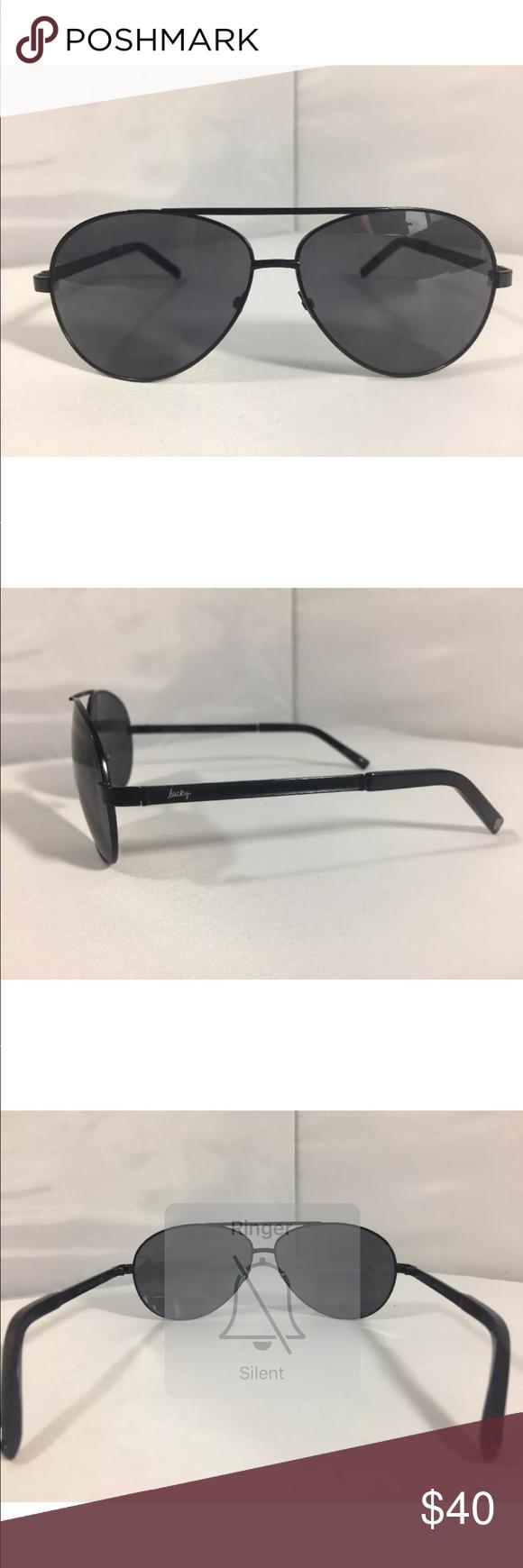 66835496fc Lucky Brand Aviator Sunglasses Capitola 65-13-135 Lucky Brand Aviator  Sunglasses Capitola 65-13-135 Black Lucky You Lucky Brand Accessories  Sunglasses