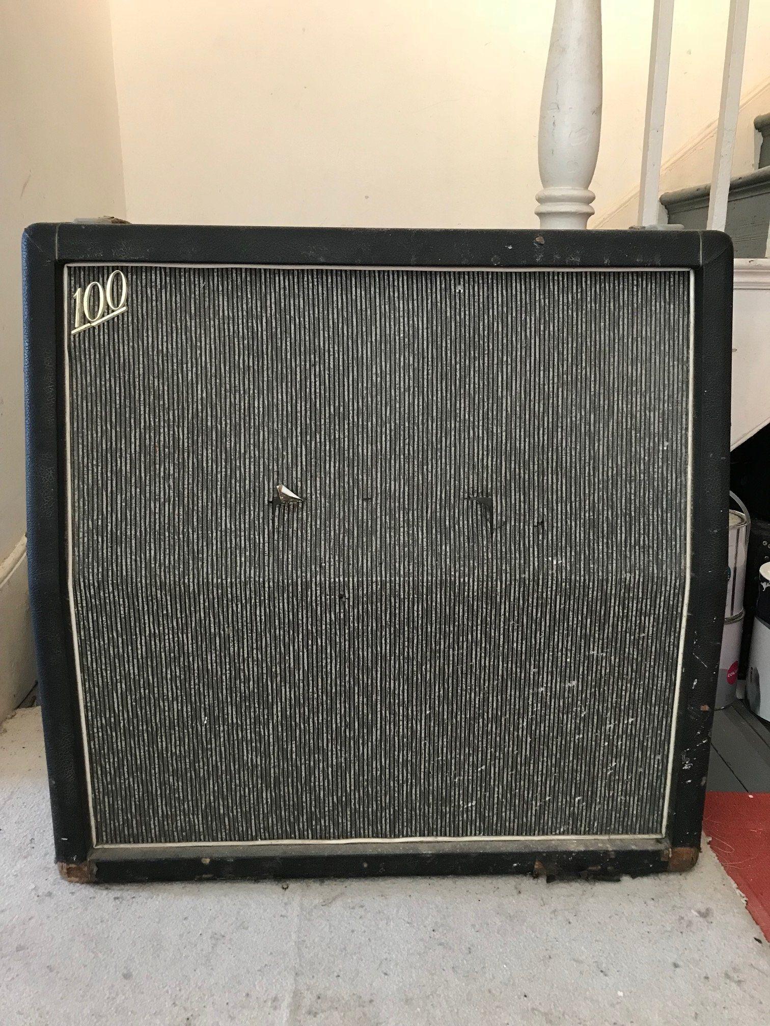 1966 Marshall Pinstripe 4x12 Old Re Tolex Vintage Guitars