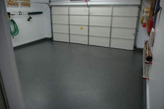 Gray Epoxy Coating Garage Floor Paint Ideas Flooring Design Trends