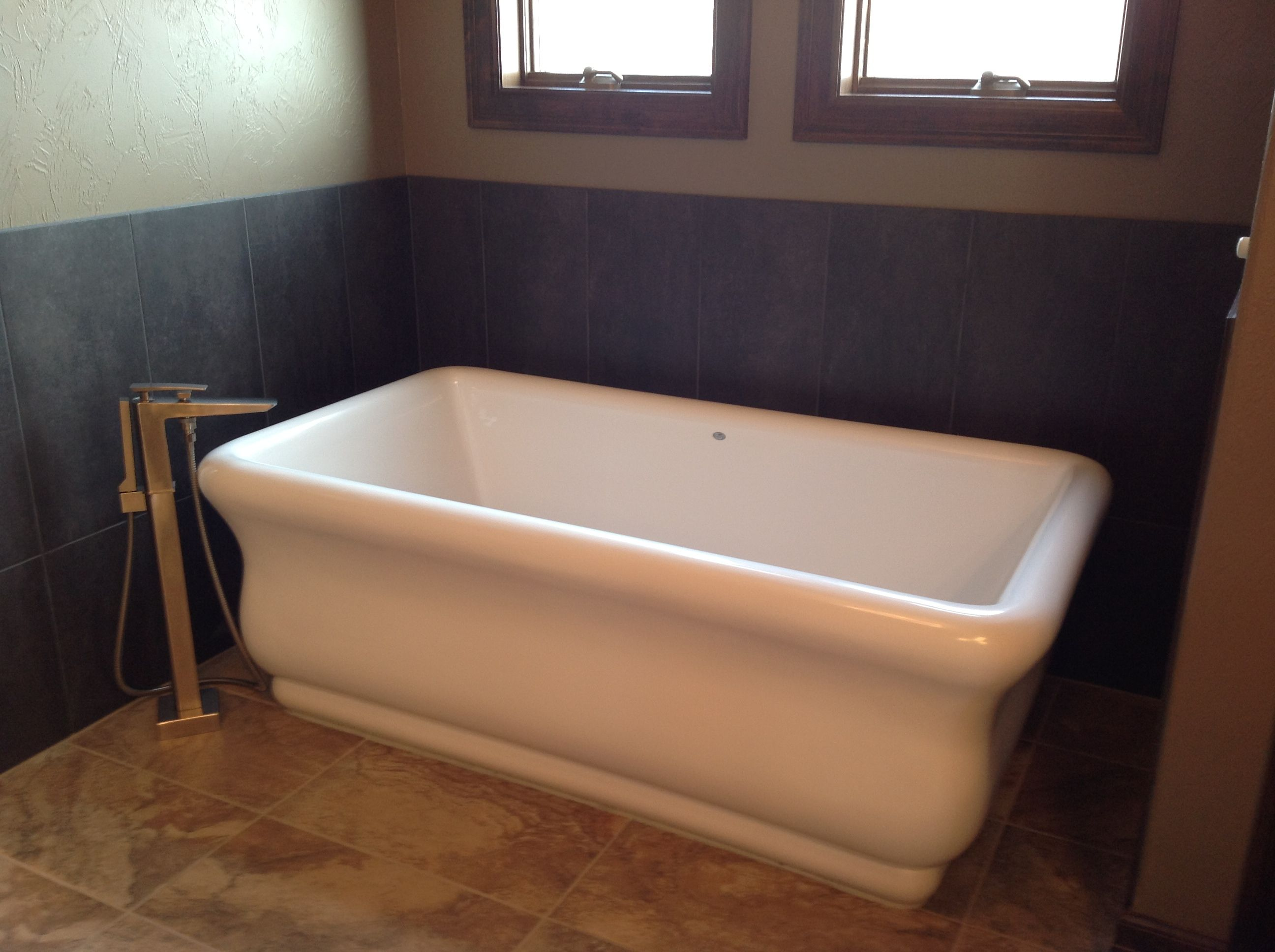 Vintage bath chic, Freestanding Tub with #Toto Faucet, available at ...