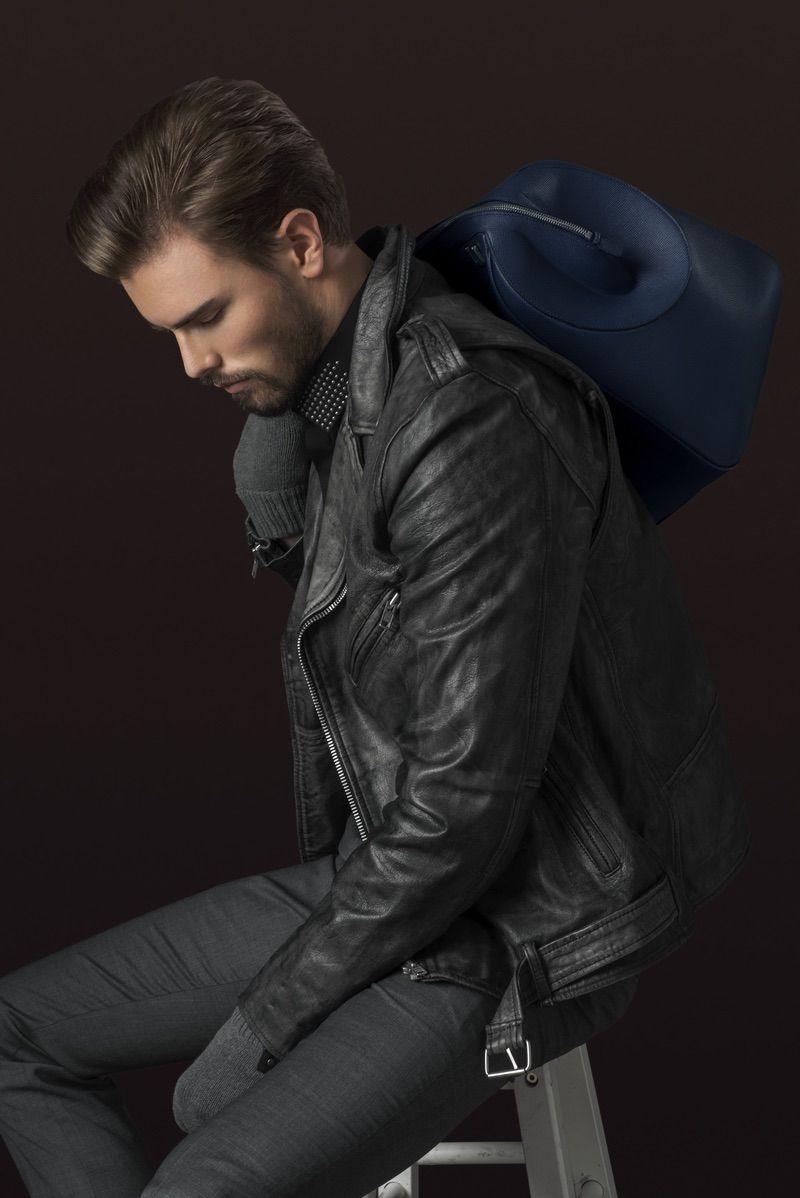 Mens leather gloves boss - Andreas Wears Leather Biker Jacket Black Dust Shirt Hugo Boss Gloves Stylist S Own
