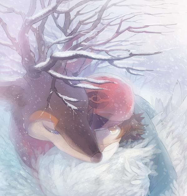 メブキジカと冬 ⇒ 春 (完売済みの同人誌からの再録)