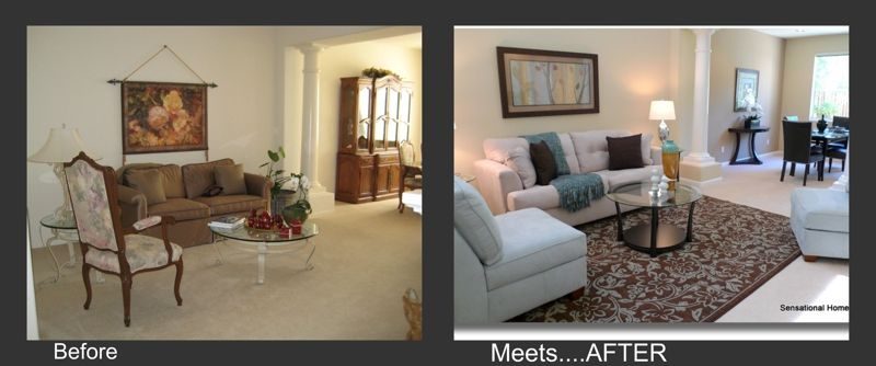 Before Meets After Home Staging Living Room Transformations