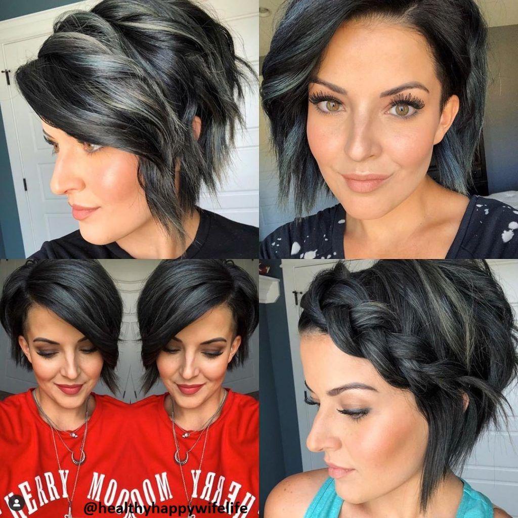 kurze schwarze Haar (8) - Frisuren für die Frau  Kurze schwarze